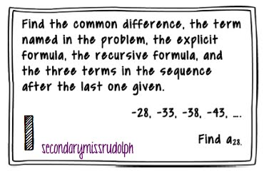The Secondary Classroom can be fun too.....: Sequences