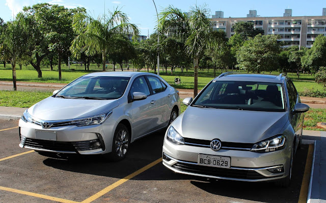 Toyota Corolla 2019 x Volkswagen Golf TSI Highline