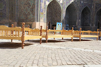 Uzbekistan, Samarkand, Registan, Cher-Dor Madrasah, topchan, © L. Gigout, 2012