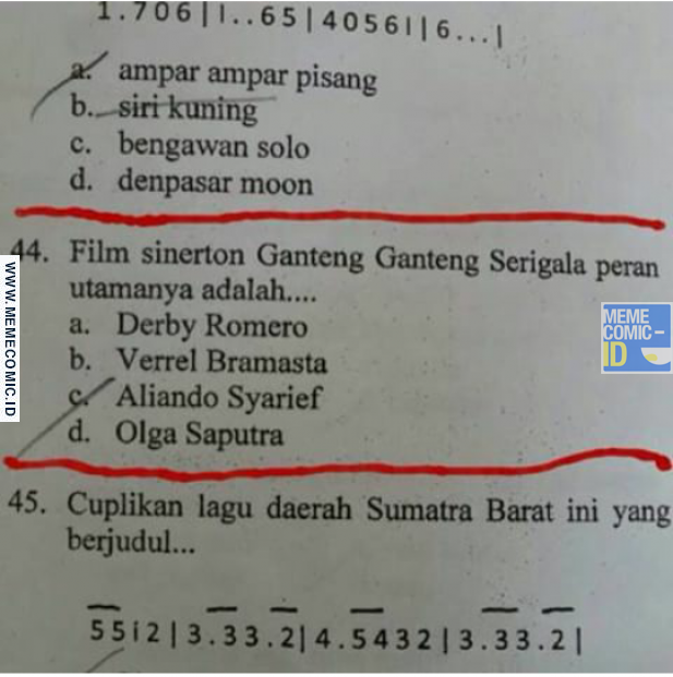 Tribunnews5: 15 Meme sinetron Indonesia, lucu-lucu ya?