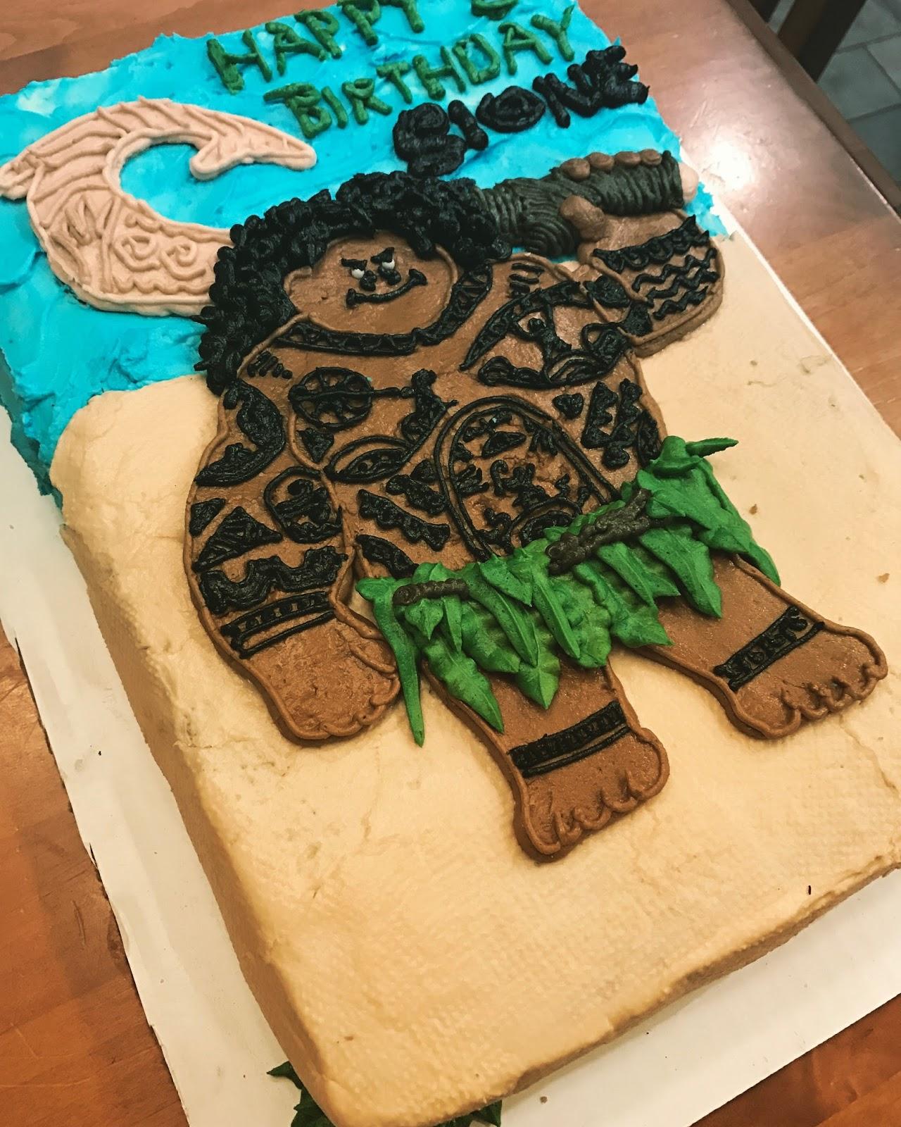 The Cake Cow Moanas Maui Cake - Maui birthday cakes