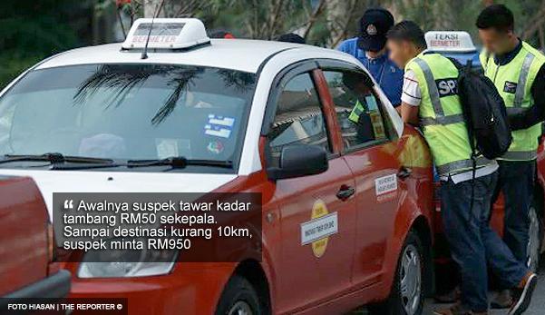 Pemandu Teksi Paw Rm950 Dari Mangsa Bagi Jarak Kurang 10 Km