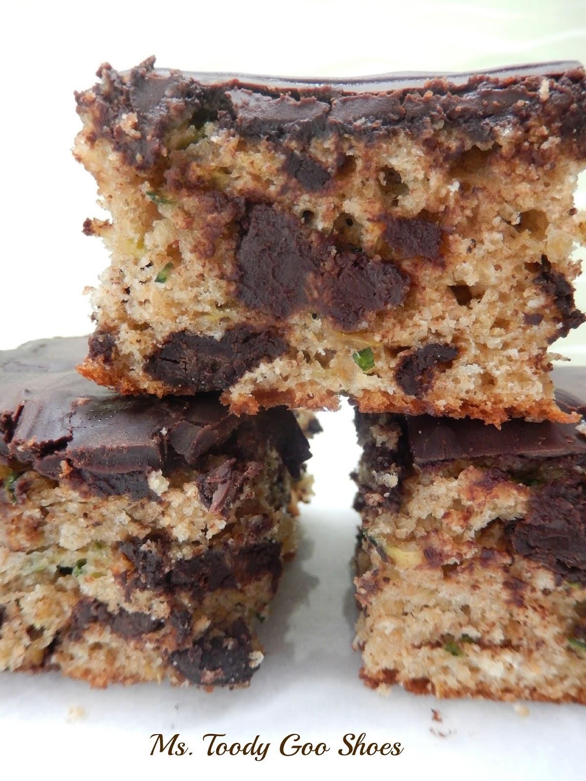 Chocolate Zucchini Snack Cake --- Ms. Toody Goo Shoes