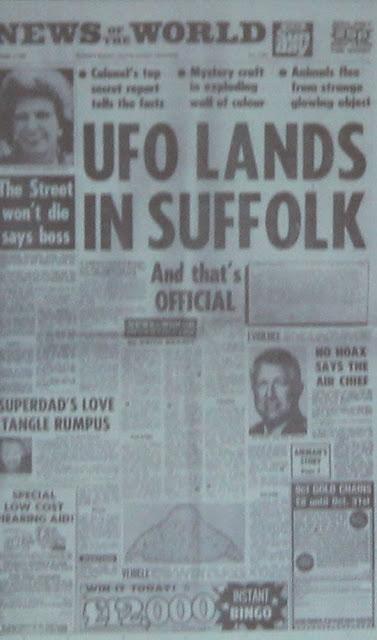 Noticias del avistamiento OVNI en el bosque de Rendlesham.