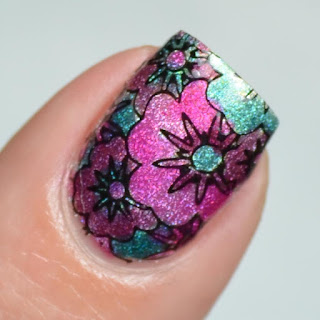 ledlight flower nail art
