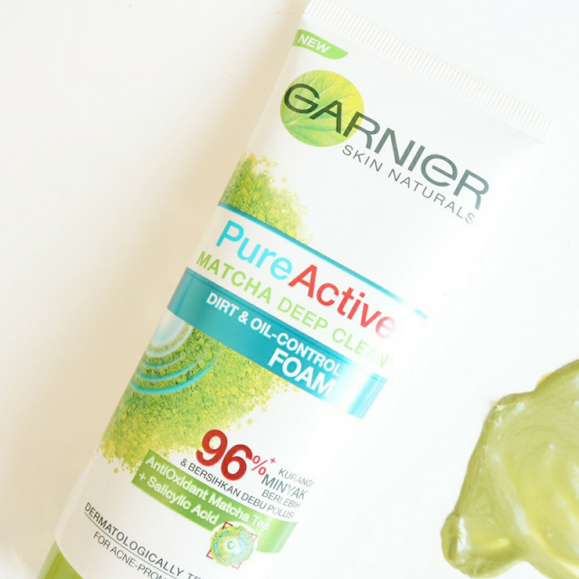 GARNIER PURE ACTIVE MATCHA : BEAUTY REVIEW