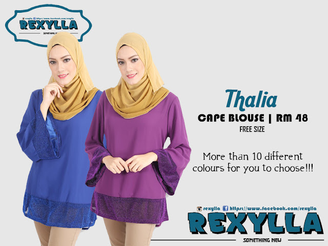 rexylla, cape blouse, shimmery, blouse, thalia collection