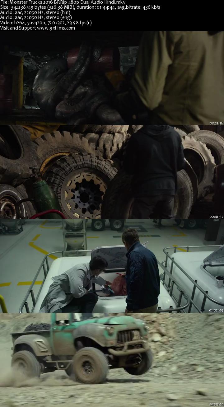 Monster Trucks 2016 BRRip 480p Dual Audio Hindi