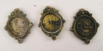 Seth Apter Baked Velvet Patina Oxide Prima Marketing Elisian Clockworks Mould Prima Marketing Metallique Wax Vintage Gold For the Funkie Junkie Boutique