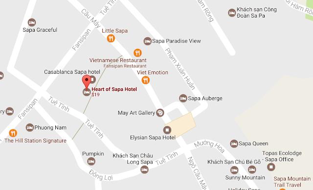 Vị trí khách sạn Heart of Sapa