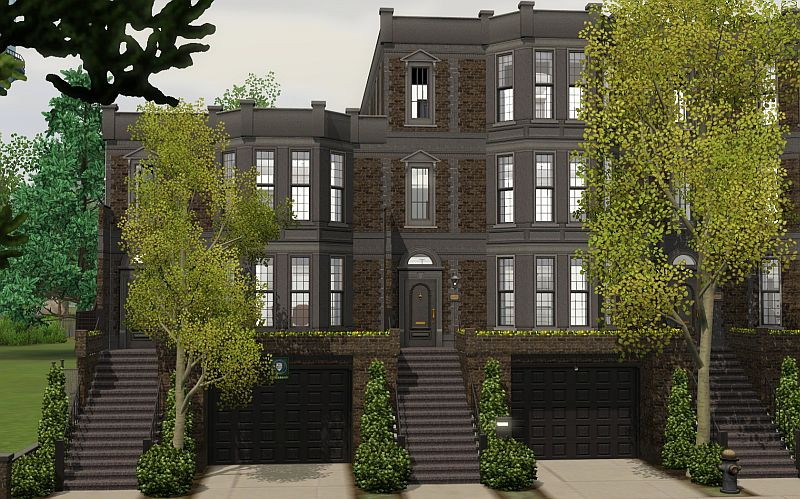 Simplicity ts3 brownstone apartments for Apartment design sims 3