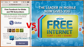 Globe's 'Free Facebook' is back to counter Smart's 'Free Internet' offer
