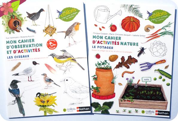 Mon cahier d'observation et d'activités - Les oiseaux & Mon cahier d'activités nature - Le potager