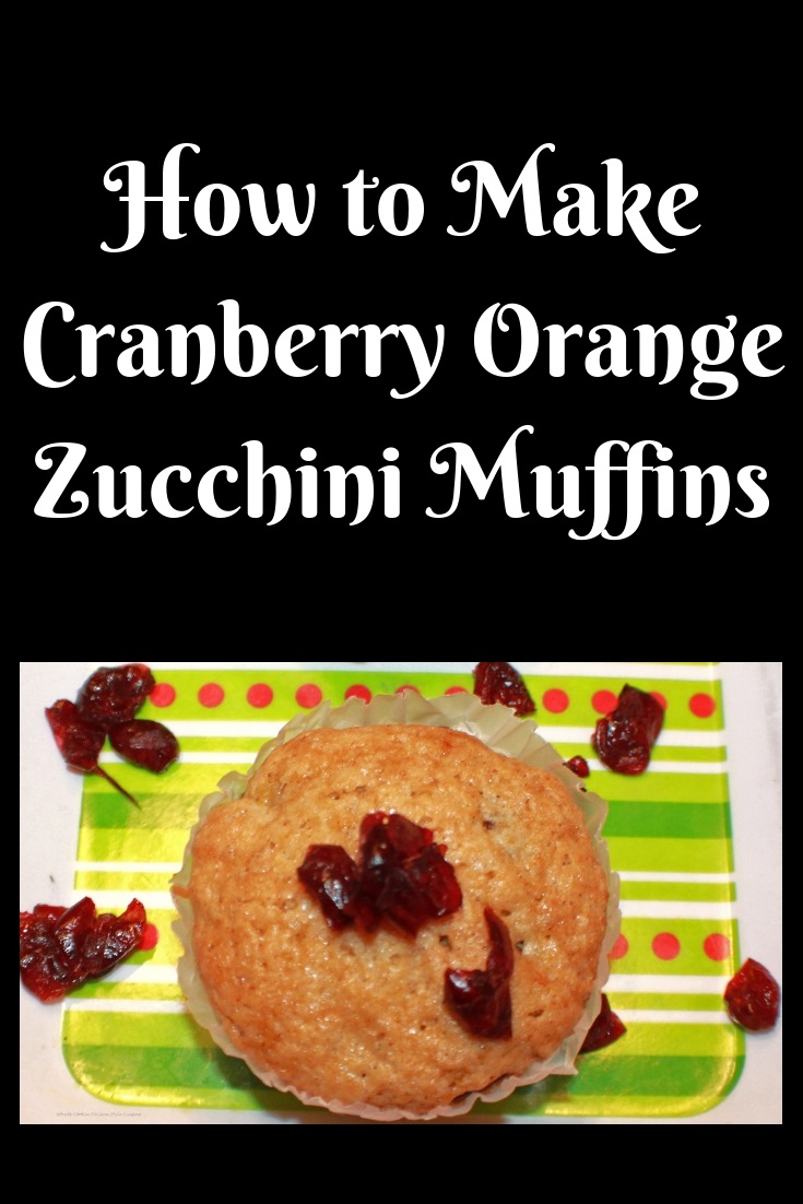These are delicious cranberry zucchini muffin made from scratch for the holiday season