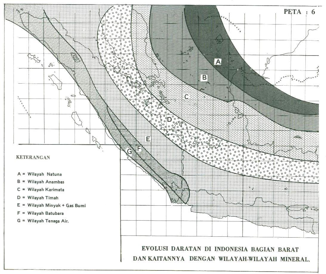 Wilayah-wilayh Mineral Indonesia Bagian Barat