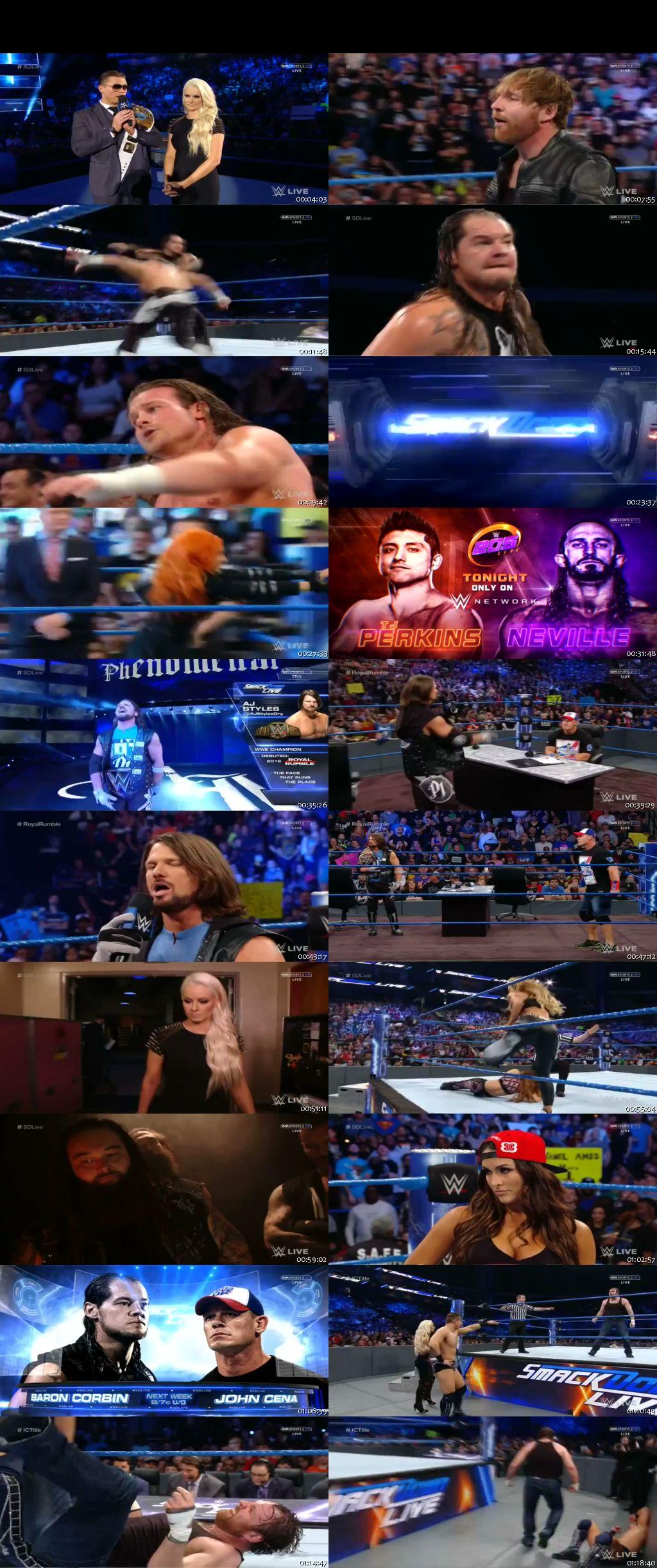 Screen Shot Of WWE SmackDown Live 3rd January 2016 HDTV 480P 300MB