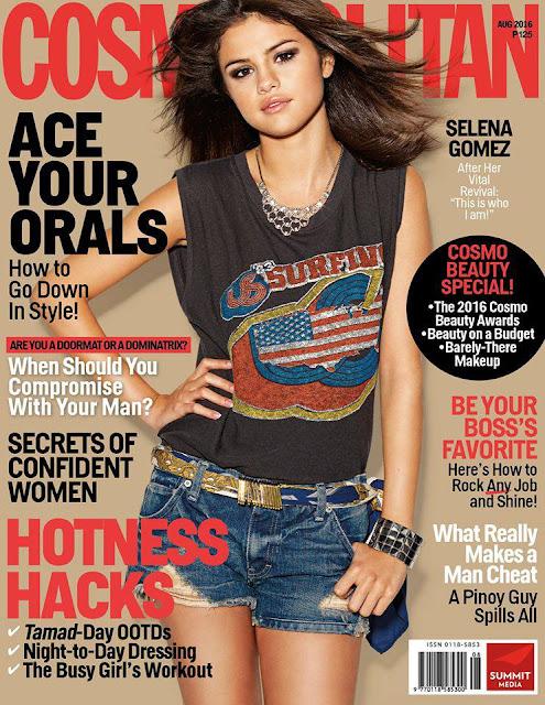 Selena Gomez Cosmopolitan Philippines August 2016