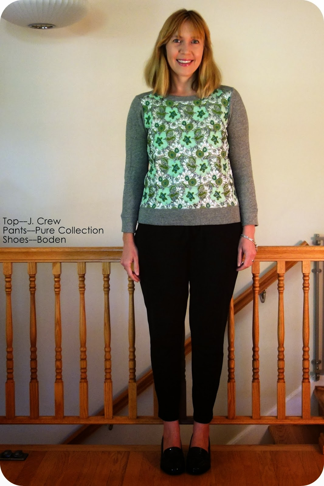 40fb3747c24 First up is the ootd portion followed by a quickie review for the J. Crew  Floral Sweatshirt and the Boden Heeled Loafer.