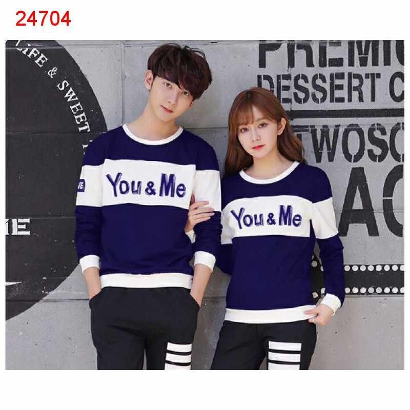 Jual Sweater Couple Sweater You Me Neo Navy White - 24704