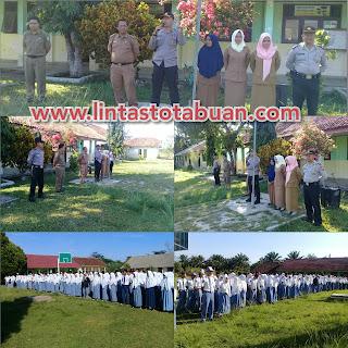 Polda Lampung Sosialisasi Tertib Lalu Lintas di SMA Negeri 1 Bengkunat