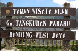 Foto DP bbm taman wisata alam Tangkuban Perahu Bandung Jawa Barat Indonesia