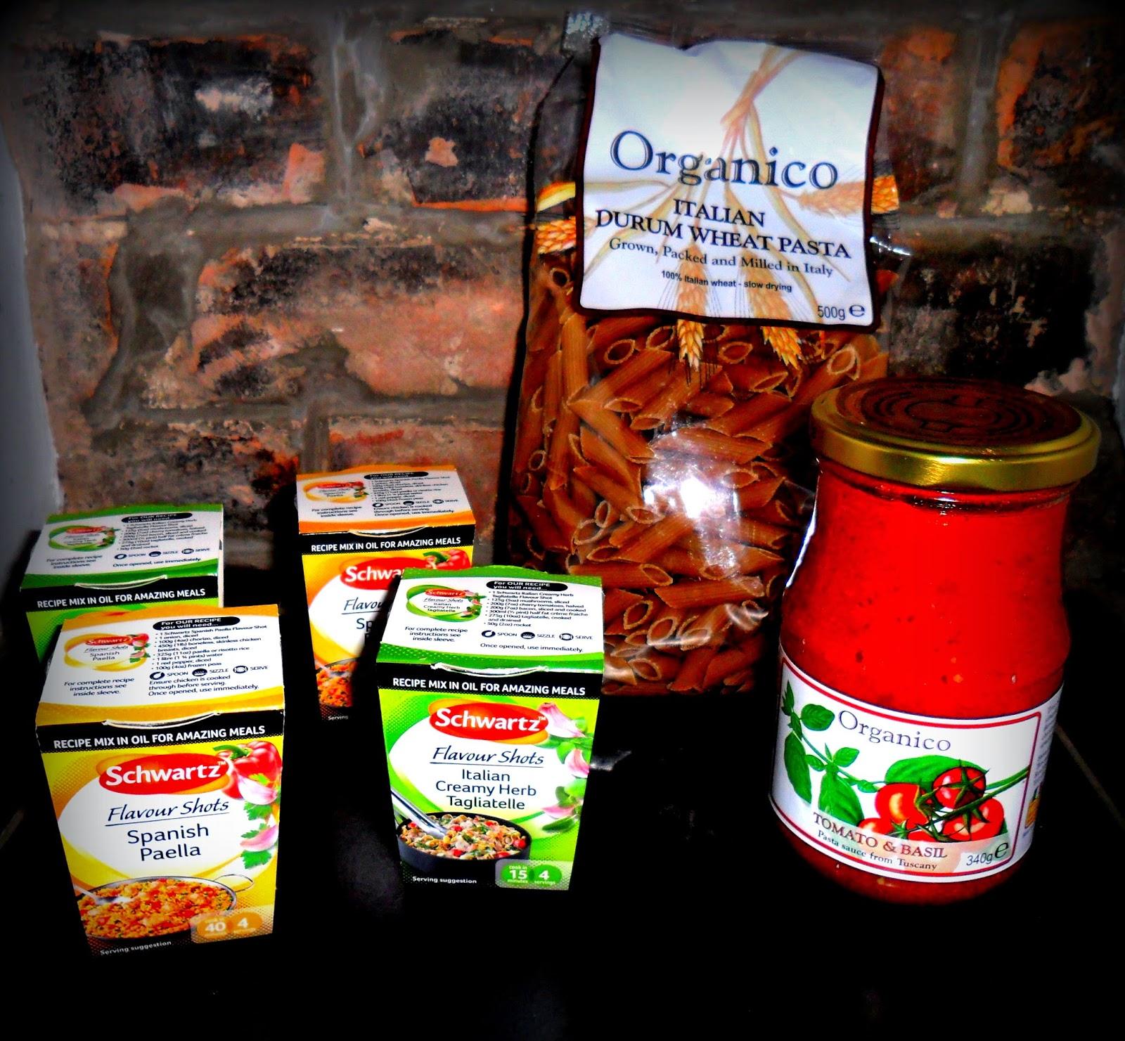 Schwartz Flavour Shots, Schwartz Spanish Paella, Schwartz Italian Creamy Herb, Mixed Herbs