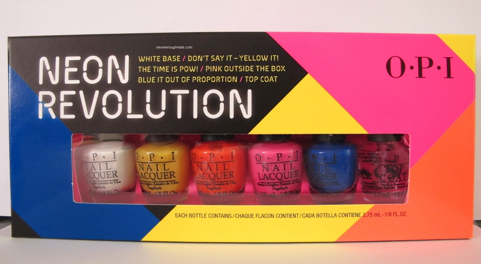 never enough nails opi neon revolution swatches