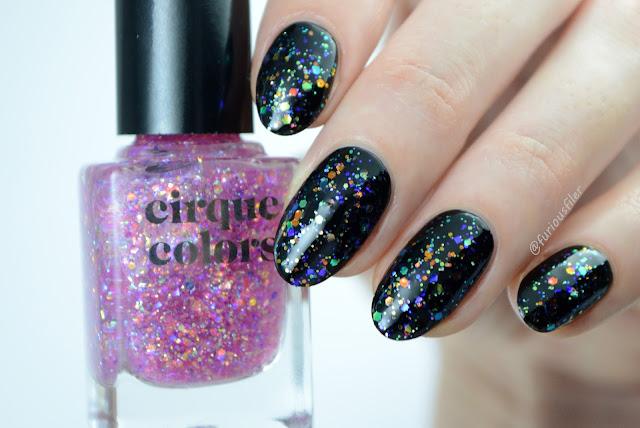 cirque colors crystal tokyo glitter flakies topper top coat