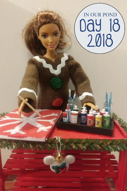 Elf on the Shelf 2018 // In Our Pond // christmas // holidays // winter // elf // gingerbread man // barbie crafts // diy and miniatures // dollhouse minis
