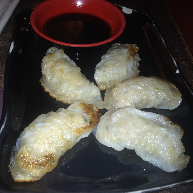 Pot stickers at Tempura Japanese Grill in Cebu City