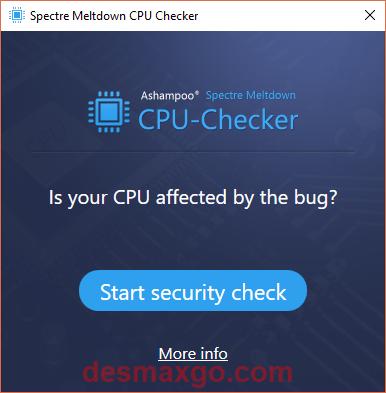 captura de Ashampoo Spectre Meltdown CPU Checker