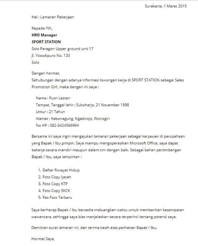 Contoh Surat Lamaran Kerja untuk Admin Perusahaan