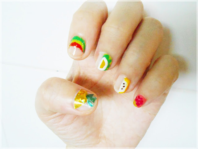 Summer fruit nail design-negative space fruit nail artusing product from Withshyan