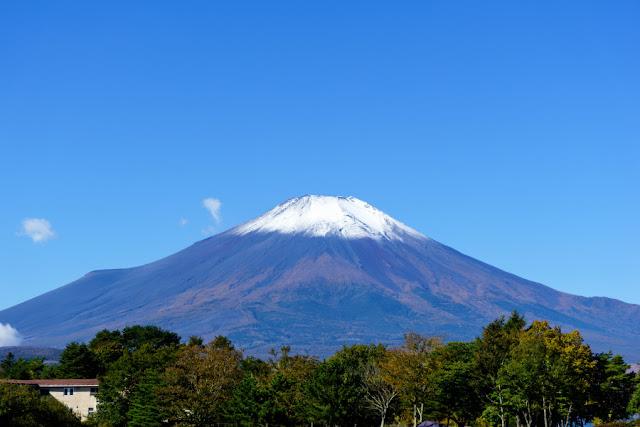 山中湖交流プラザ・「きらら」からの富士山