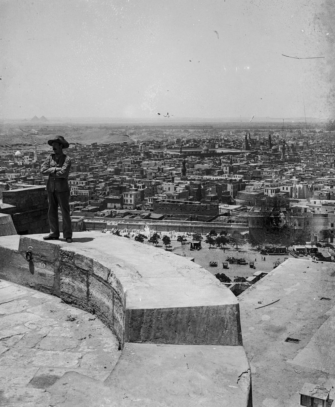 A view of Cairo from the Saladin Citadel. 1900.