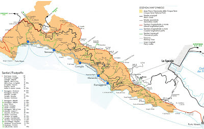 The best Cinque Terre trail map