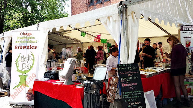 Food tent at the Oslo Vegetarian Festival 2015