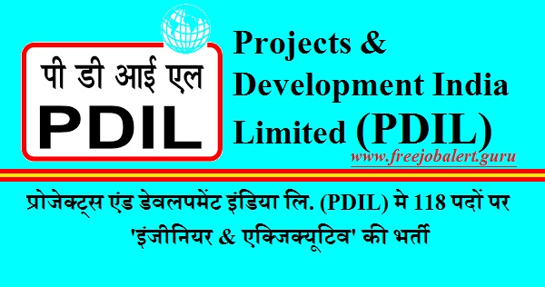 Projects & Development India Limited, PDIL, Engineer, Executive, Uttar Pradesh, Gujarat, B.Tech, Graduation, Latest Jobs, pdil logo