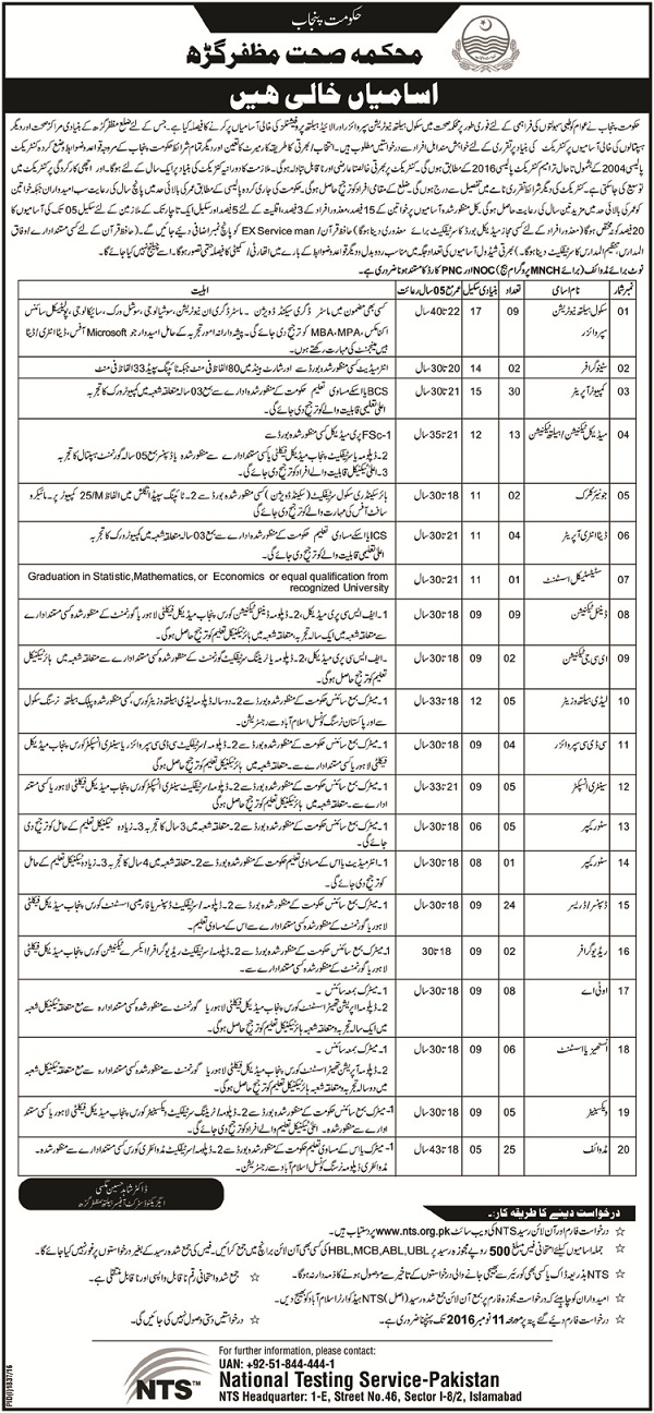 Nutrition Supervisor Jobs Muzaffargarh