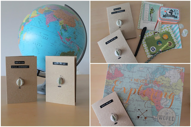 DIY Globus Karte Jules kleines Freudenhaus