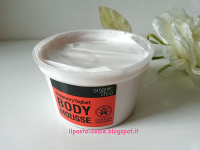 Organic Shop Strawberry Yoghurt Body Mousse