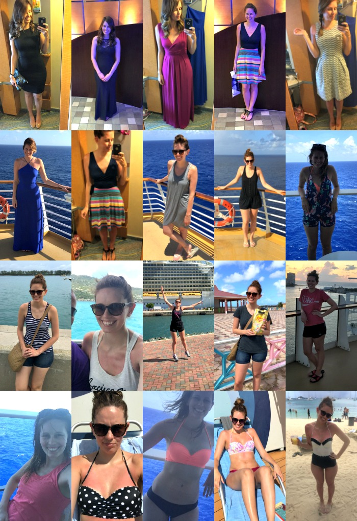 Outfits from my Caribbean cruise - all this from a carry on!