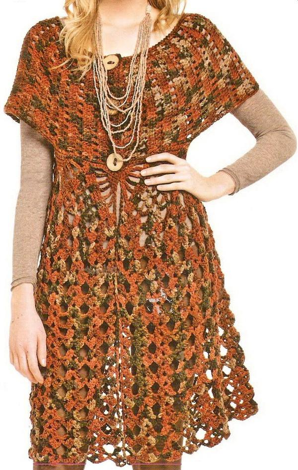 Crochet Stitches For Dresses : Crochet Sweaters: Crochet Dress - Tunic Dress For Women - Free Pattern
