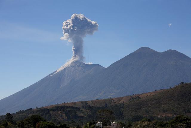 Guatemala's Volcano of Fire Fuego spews lava and ash  Gua07_0416
