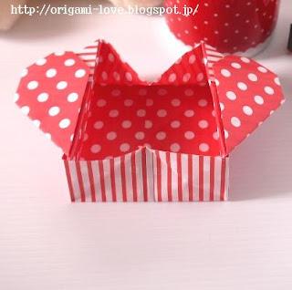 折り紙 長方形 折り紙 箱 : Kawaii*折り紙*チュートリアル♪ ...