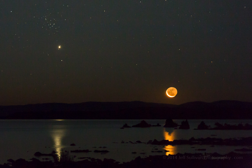 Jeff Sullivan Photography: Photos of the Moon, Venus and Jupiter Conjunction August 23