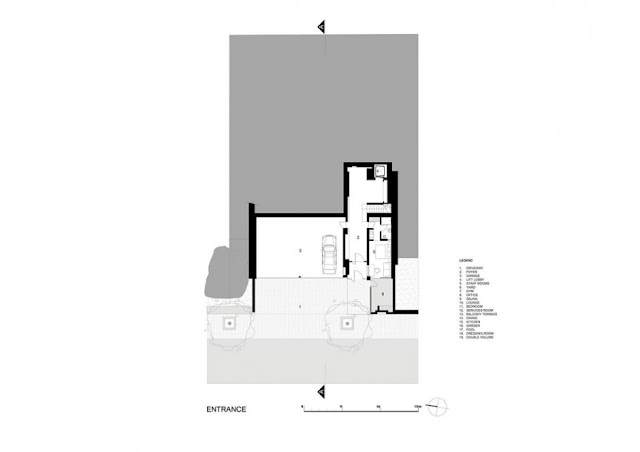 Entrance floor plan of an amazing modern home