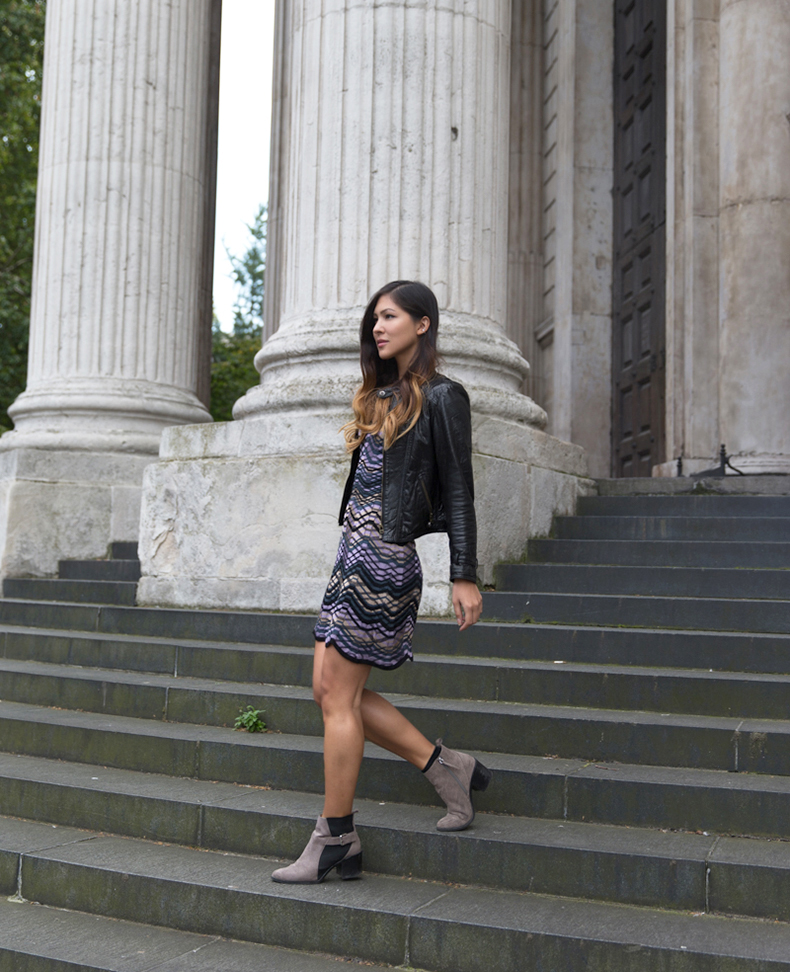 Euriental | fashion & luxury travel | Missoni dress, leather jacket and Zara booties