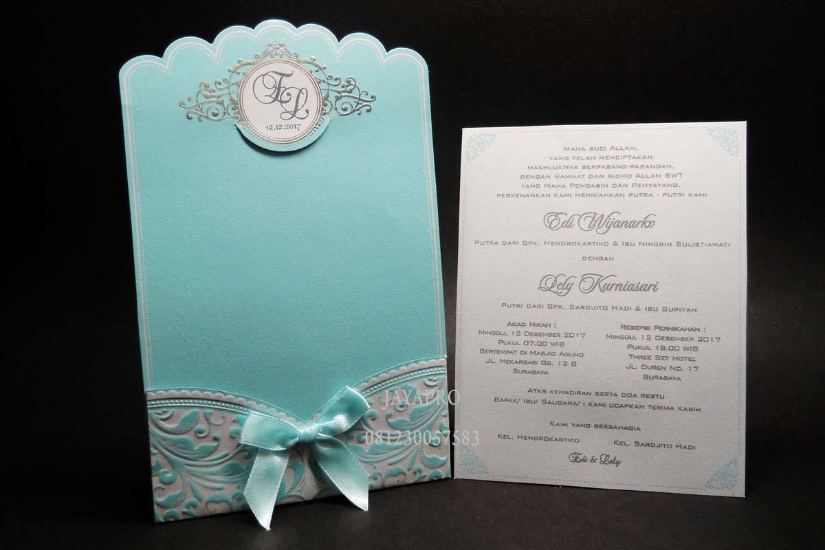 Undangan Pernikahan Simple Elegan One Card Ev06 Undangan