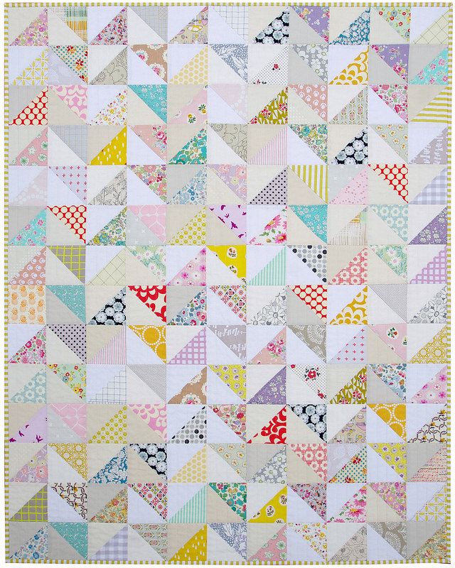 Modern Half Square Triangle Baby and Toddler Quilt | Red Pepper Quilts 2015